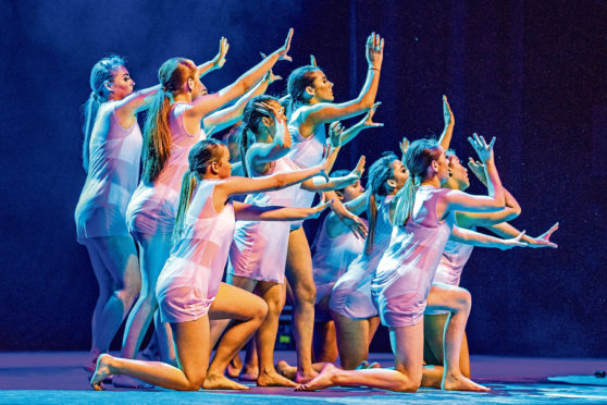 St John's R.C. High School during the 'Contemporary Dance' section.
