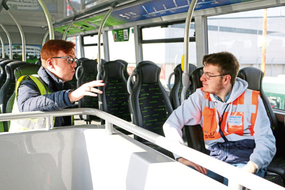 Daniel Aberdein has had an Xplore Dundee bus named after him after showcasing his love of transport.