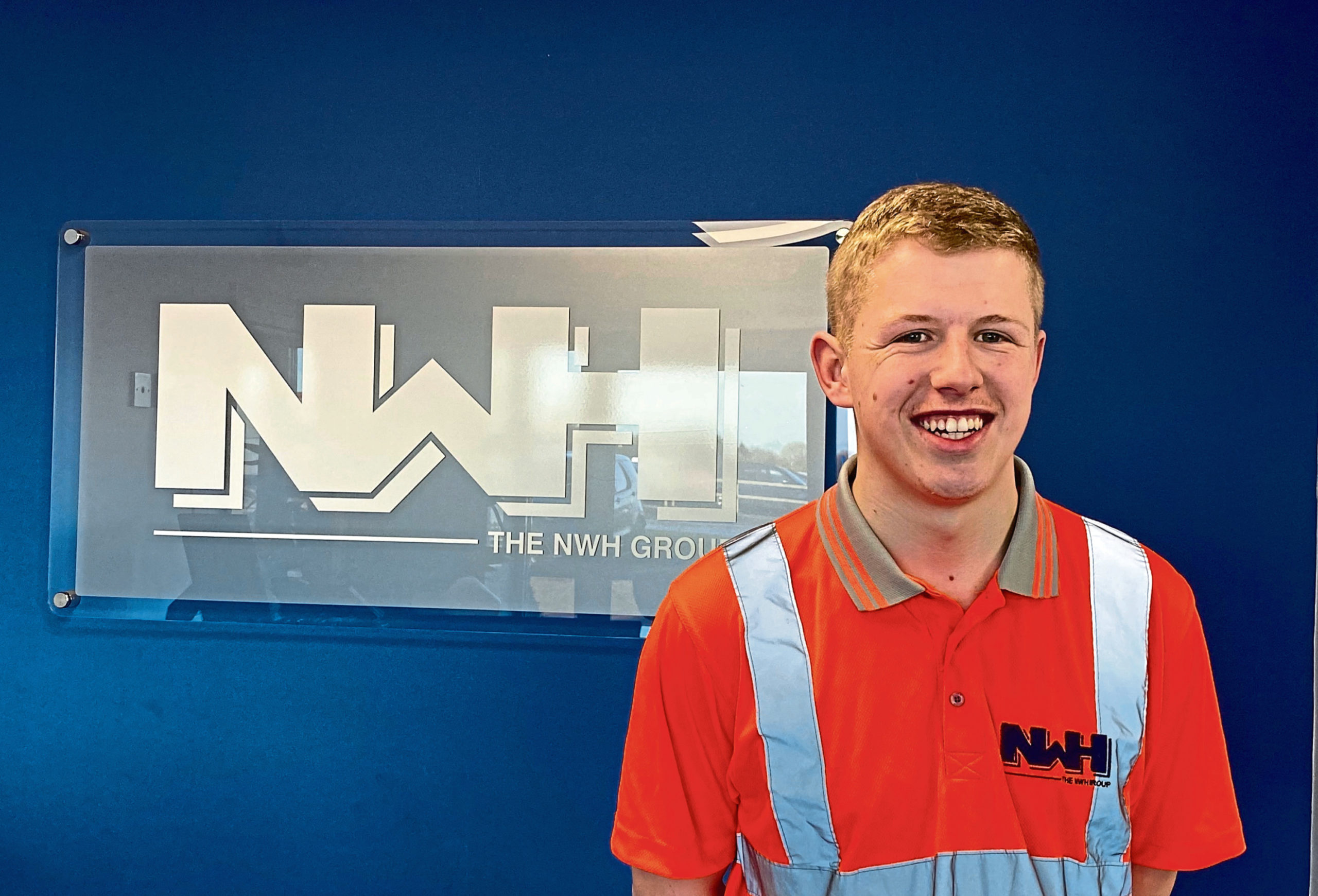 Christopher Cornet successfully completed a modern apprenticeship in driving with the Dundee-based waste recycler, NWH Group.