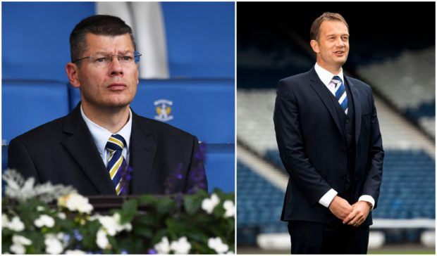 Neil Doncaster, left, and Ian Maxwell, right.