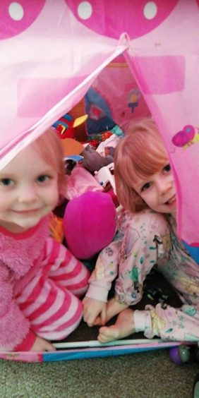 """Carol Robertson sent this picture, saying: """"Two of my granddaughters have been self isolating. Miss them and can't wait till all this is over."""""""