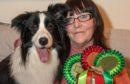 Dog breeder Pamela Alcorn with her border collie Dante.