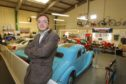 Alexander Goodger on his first day as new manager of Dundee's Museum of Transport.