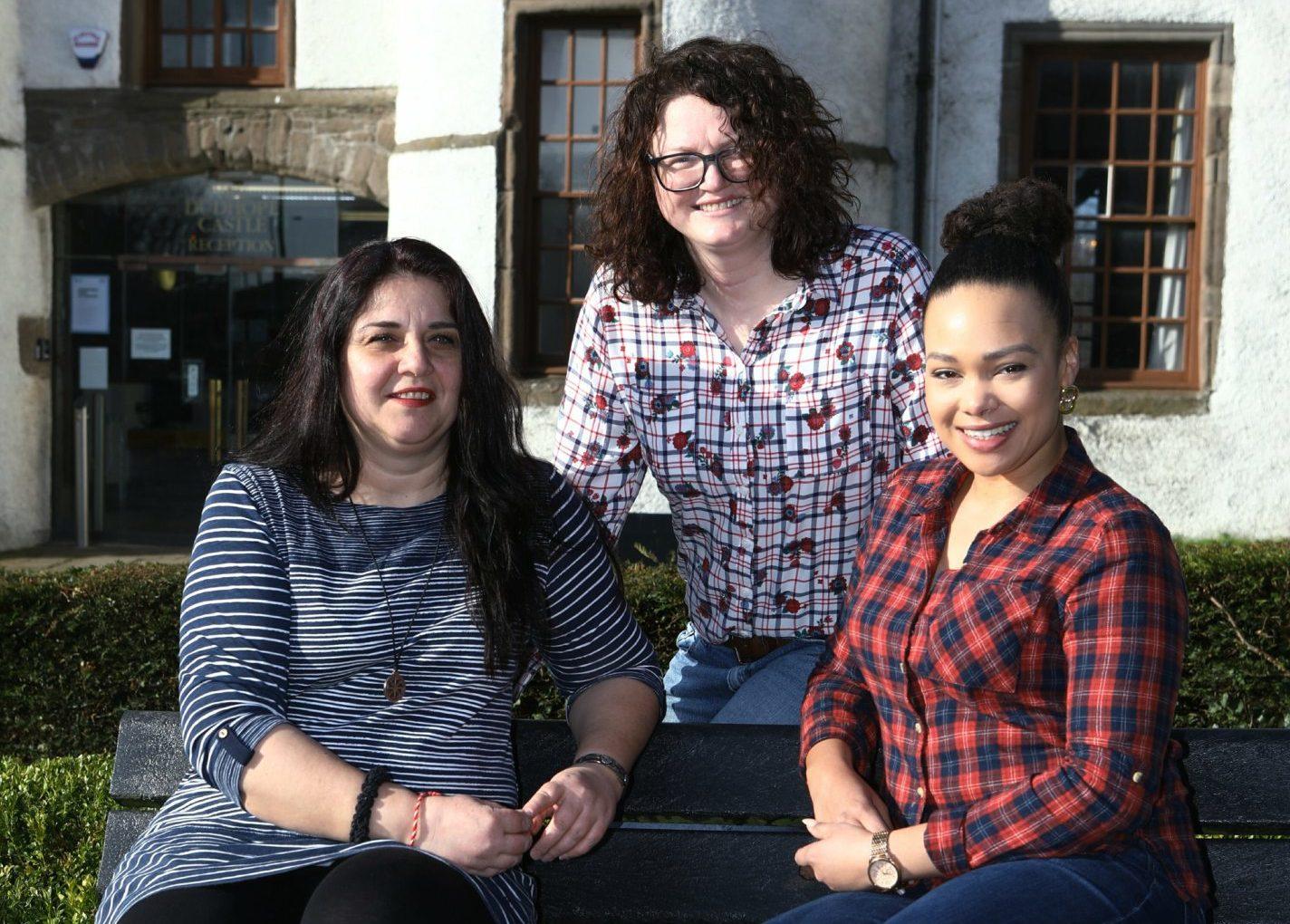 Irina Pelc, Rita Indrina and Hannah James.