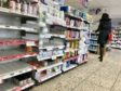 The shelves of Boots in Dundee have been emptied of hand sanitising gels and soap as locals stock up.