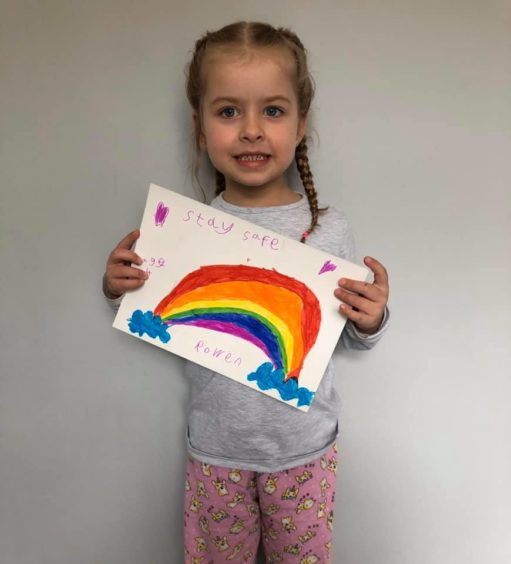 Rowën, 4, sent a message telling people to stay safe.