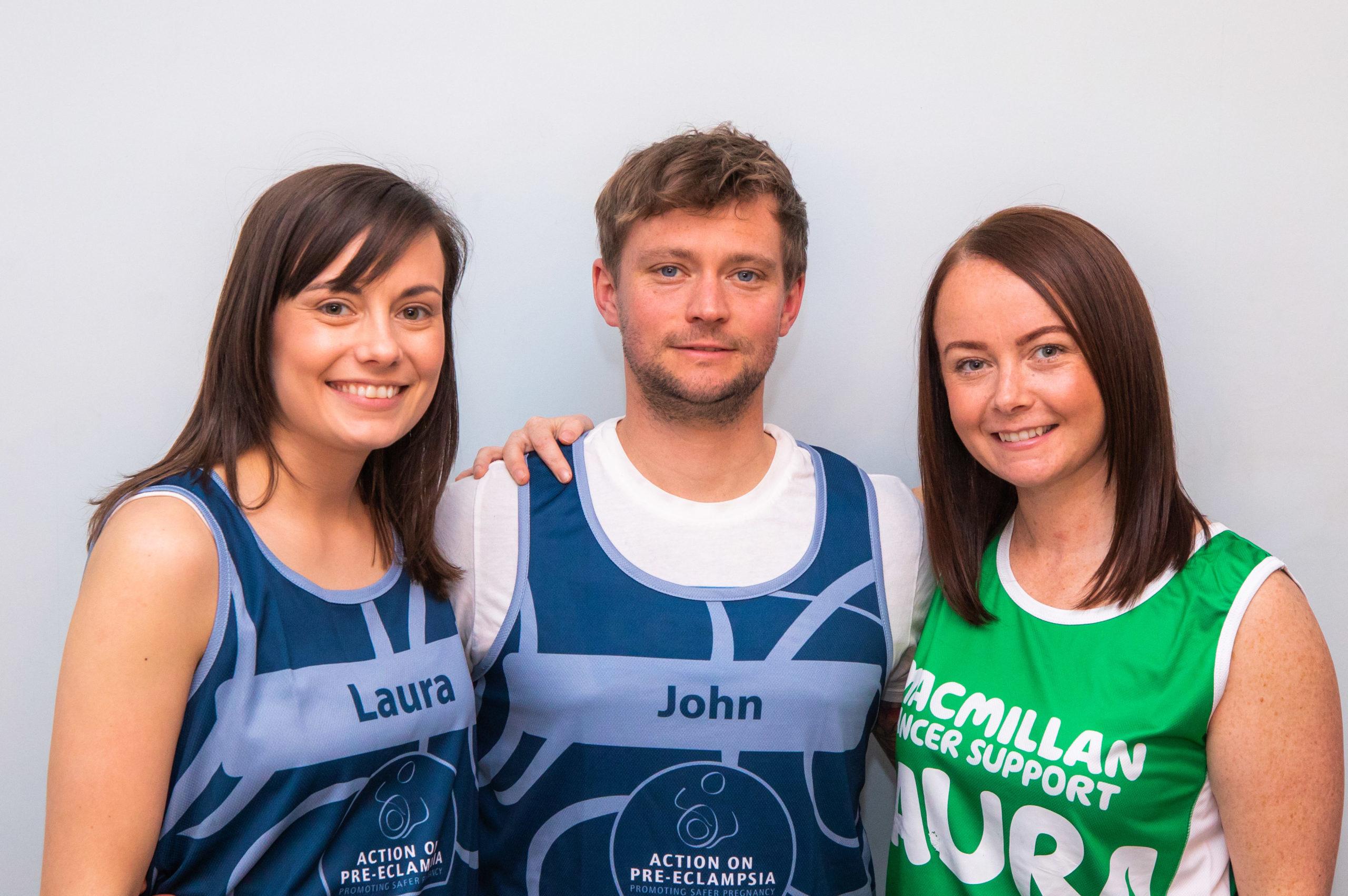 Laura and John Penman are running the London Marathon in April with John's sister Laura MacKenzie.