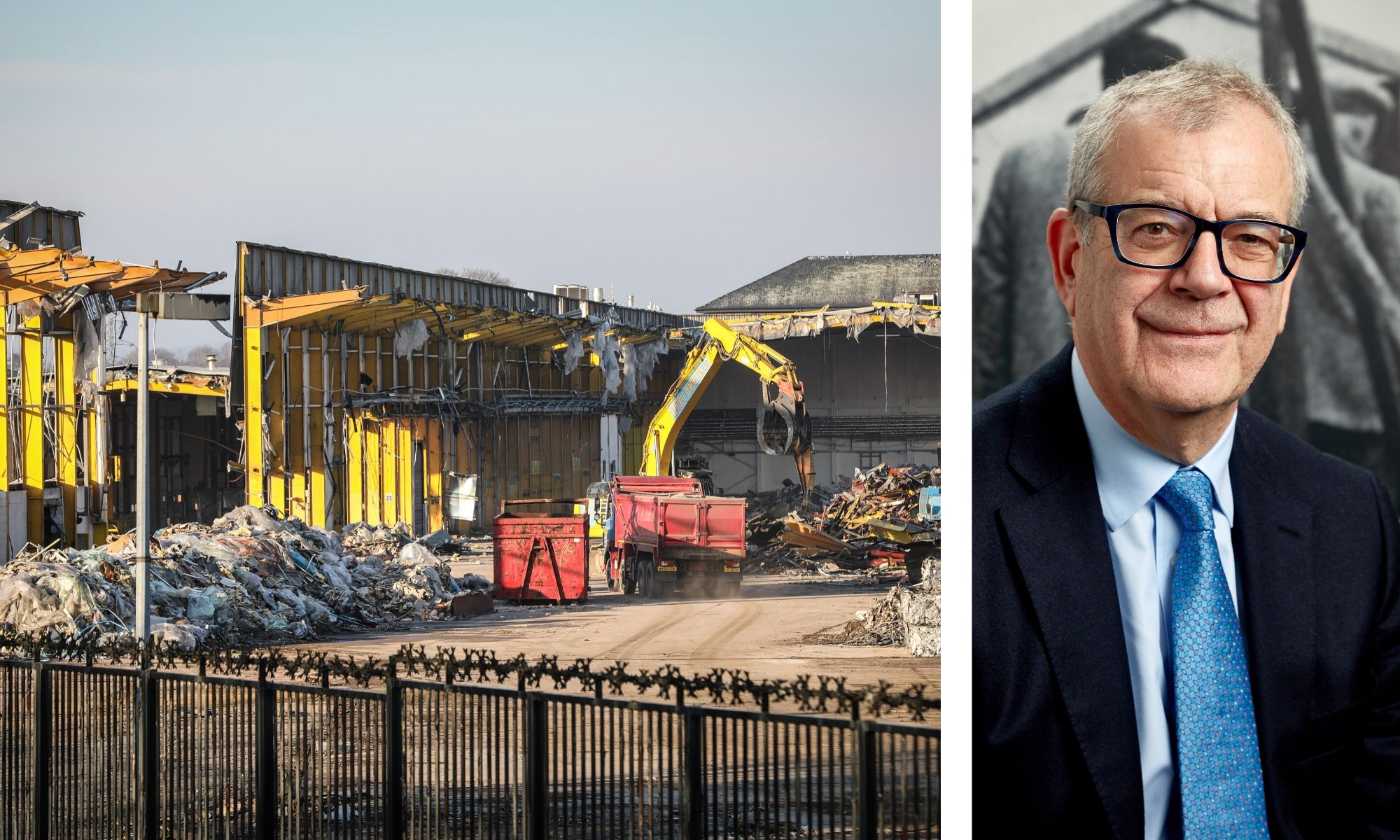 The site of the now-demolished Baird Avenue warehouse, and Wernick Group chair David Wernick.