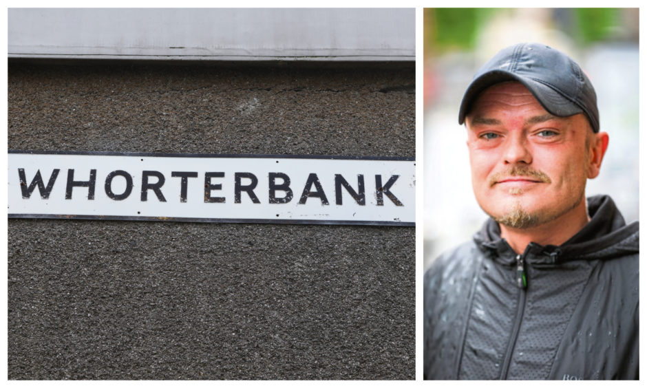 Myles McCallum and one of the Whorterbank signs.