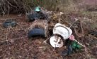 Some of the flytipping at Caird Park.