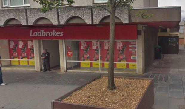 The Ladbrokes bookies in Lochee.