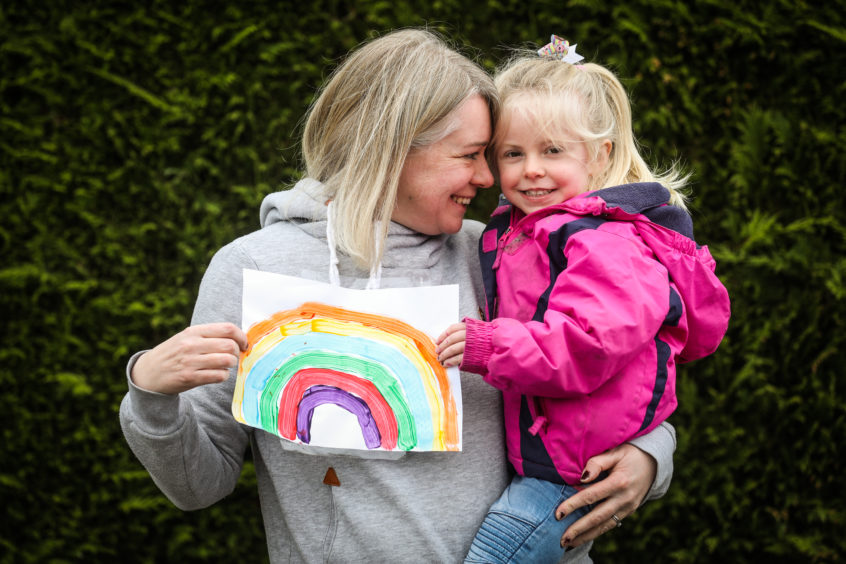 Caroline Stephenson with daugther Poppy, 3.