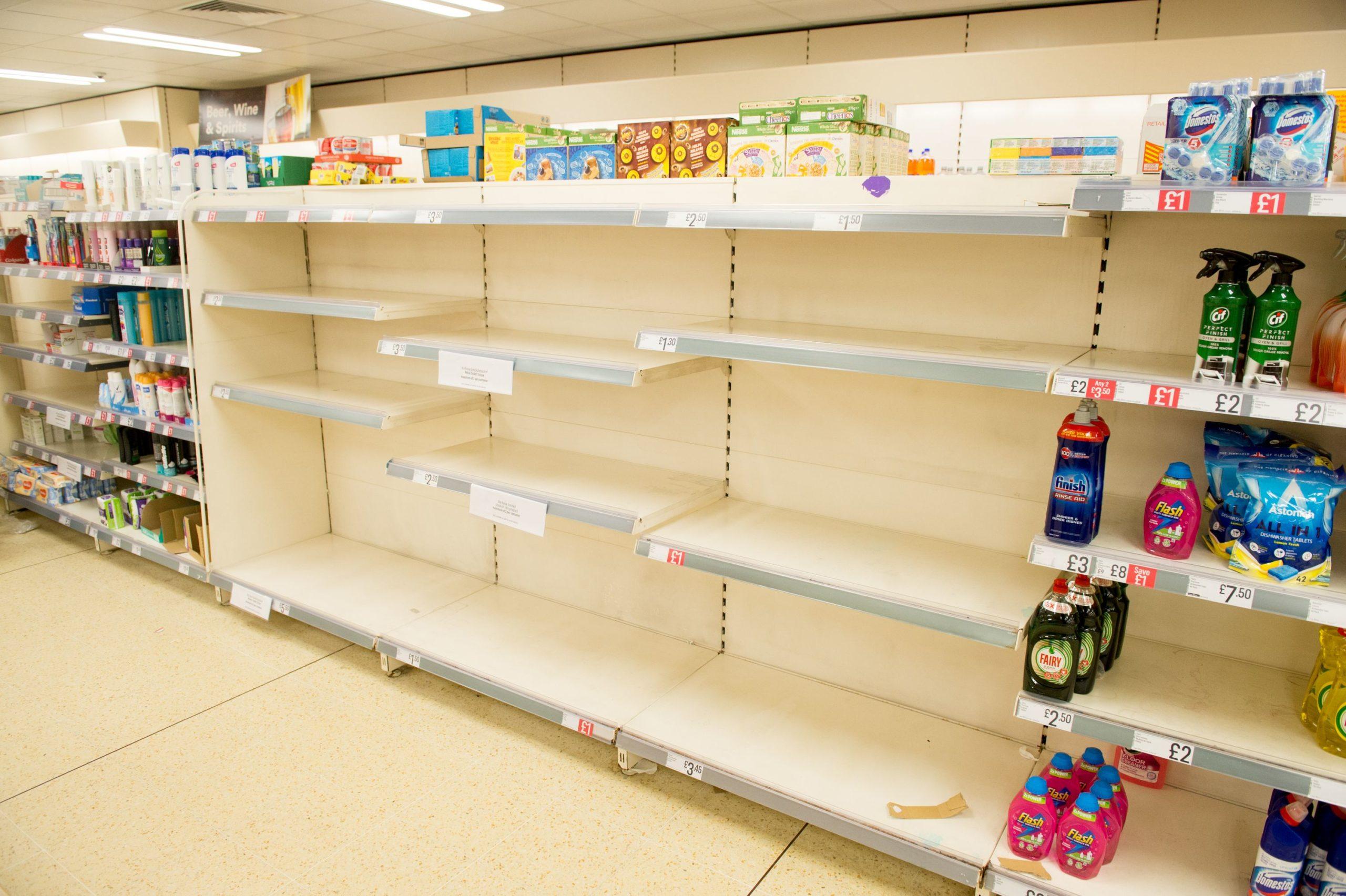 Empty shelvies have been seen in stores across the UK.