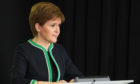 First Minister Nicola Sturgeon during a briefing (stock image)