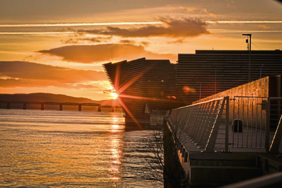 The sun sets on the River Tay. (Stock image).
