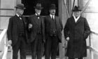 An early photo of Sir Winston Churchill, extreme right, in Dundee.