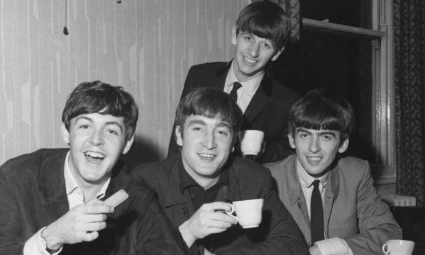 The Beatles in Dundee in 1963.