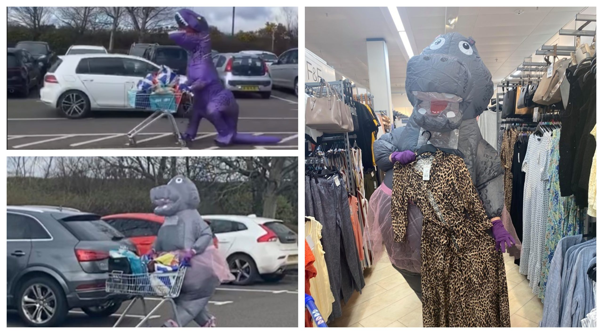 Debbie Rafferty, a security consultant and counter-terrorism student from Montrose, has been lifting the spirits of everyone during lockdown by dressing up in silly costumes to do her shopping.