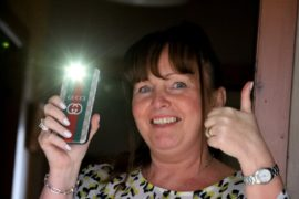 Helen Walker wants everyone to shine their phone torch at 9pm on Sunday.