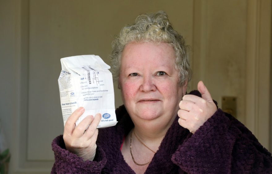 June Brady was having difficulty getting her prescription from the local pharmacy.