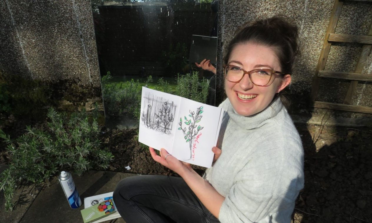 Jacqueline Goodall, a final year art student at Duncan of Jordanstone College and lead artist for the Hope Box project.