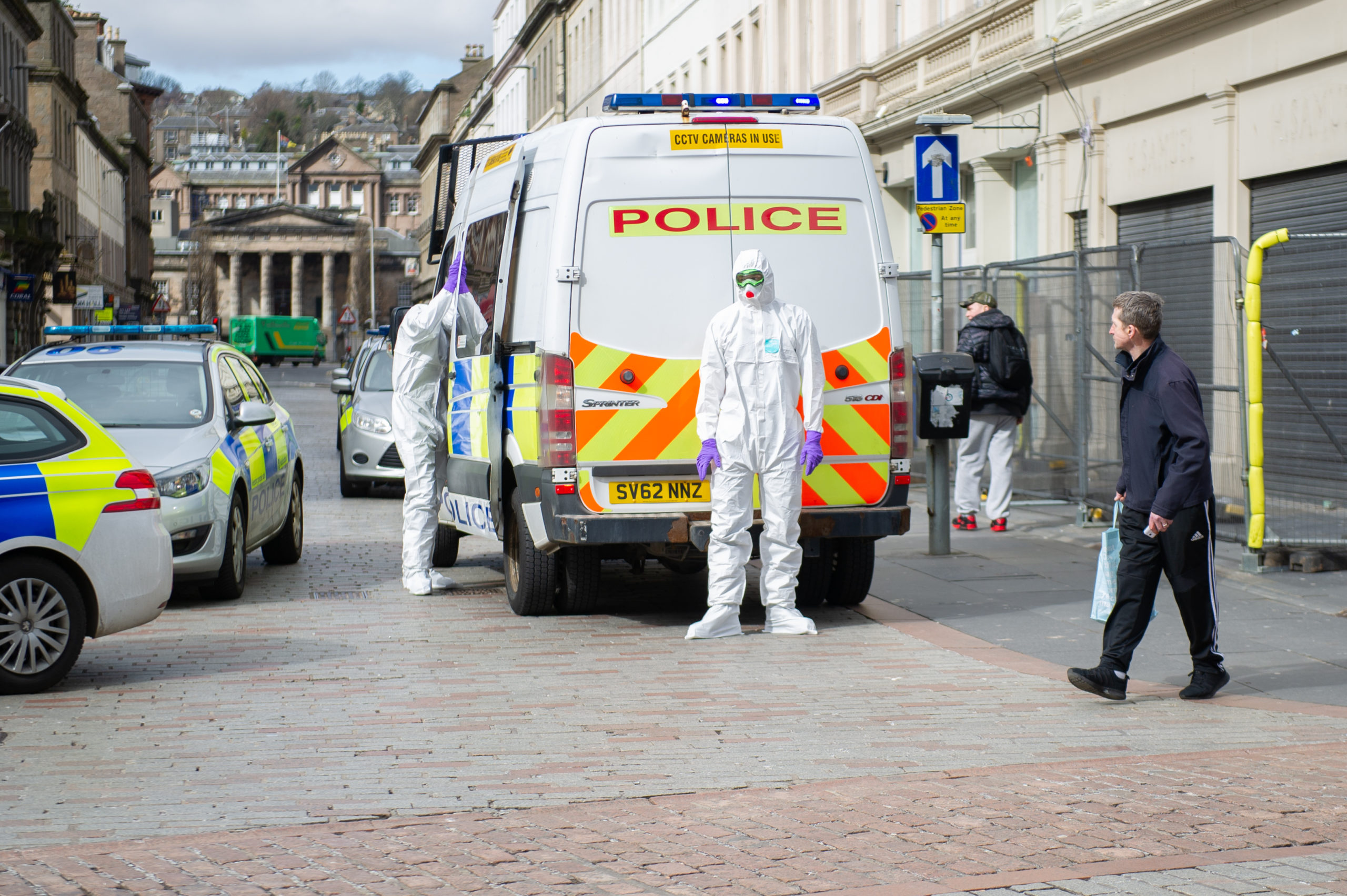 Police in hazmat suits were called to Reform Street. (Picture: DCT Media/Kim Cessford_