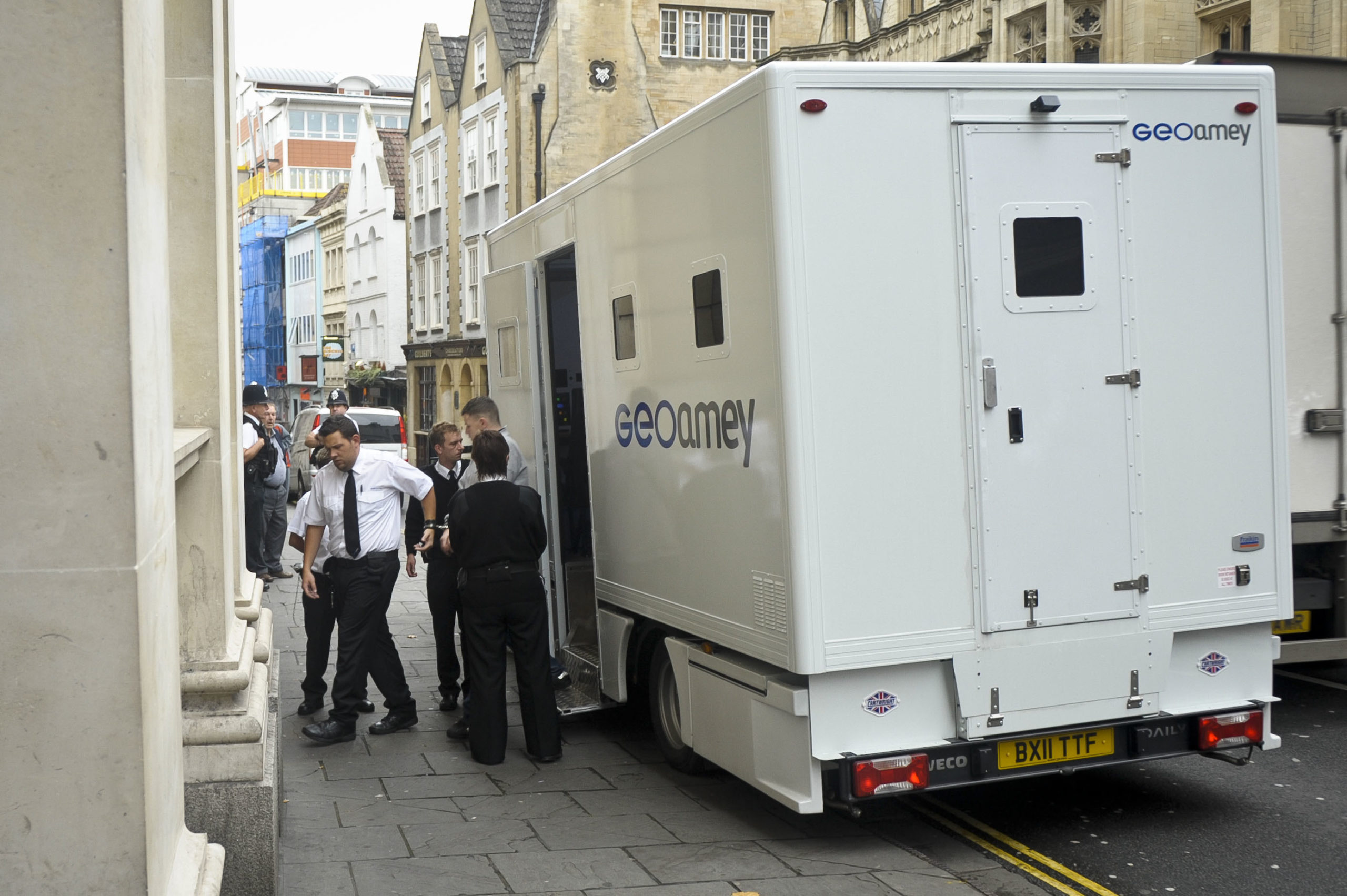 GeoAmey provides prison transport services to Scotland's courts.