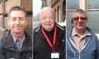 City cabbies Roger Paterson, Chris Elder and Graeme Stephen.