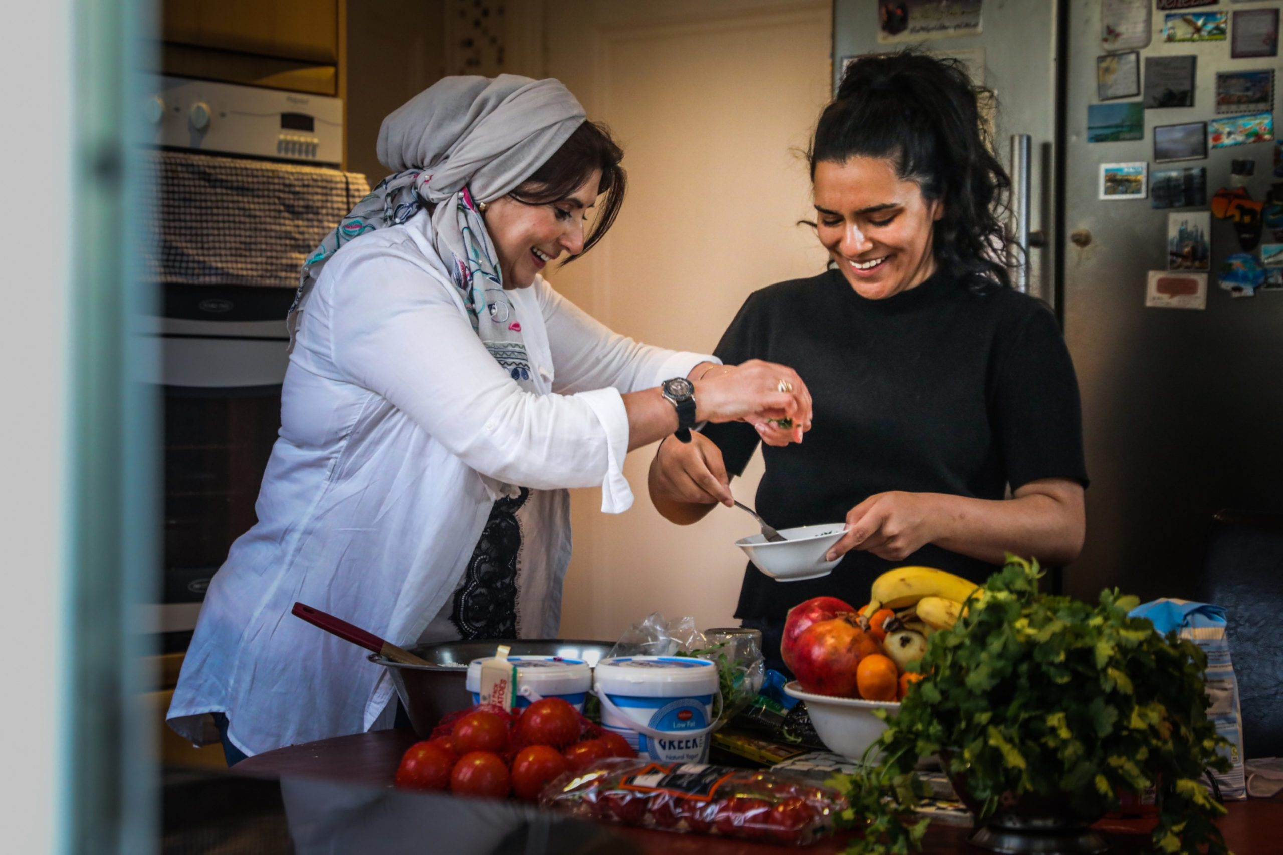 Fatima Ramzan with daughter Yusra Ramzan.