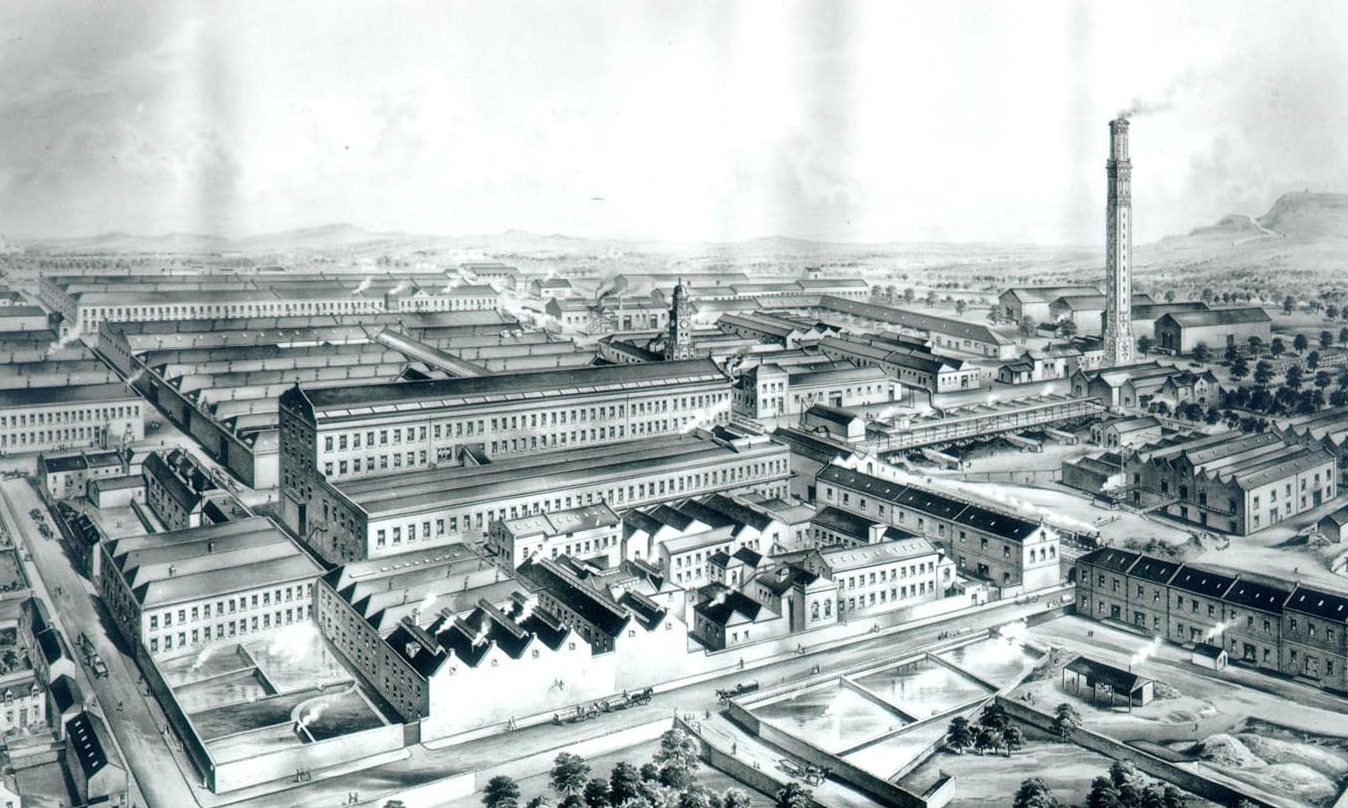 Camperdown Works in 1887.