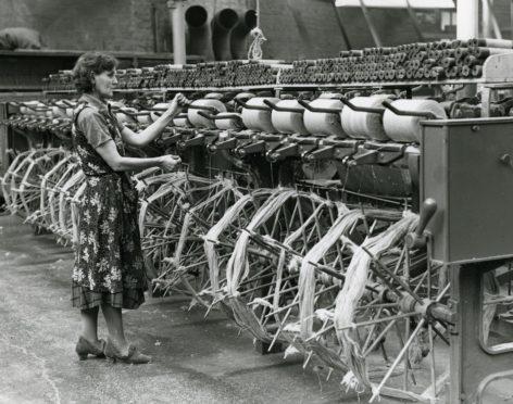 A jute spinner, in 1956.
