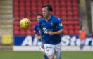 Danny Swanson in action for St Johnstone.