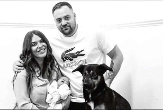 Jay Marriott, Jackie Campbell and baby Mollie-Jo.
