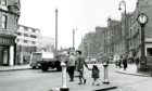 The Hilltown Clock is visible in this picture from the 1960s.