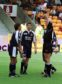 Barry Smith looks on as Dundee player manager Ivano Bonetti is sent off against Motherwell.