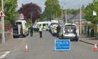 Police sealed off the street while they dealt with the incident.