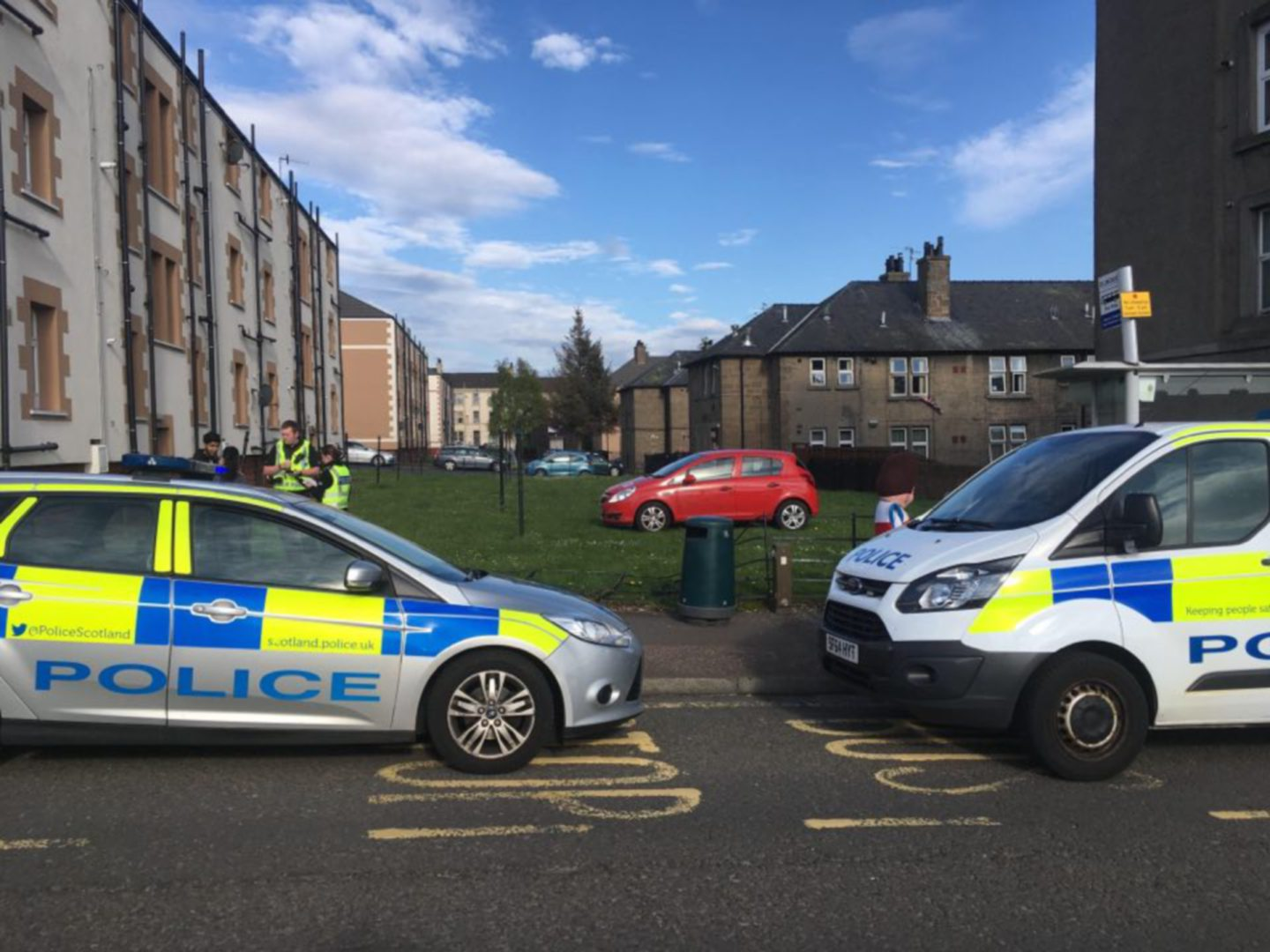 Police were called to a one car crash on Arklay Street, Dundee.