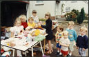 The children at the garage sale in 1990.