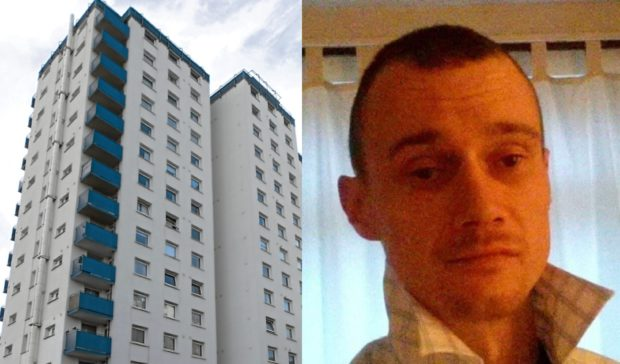 Police had to force their way into the woman's flat in Lansdowne Court where they also found John McKenzie.