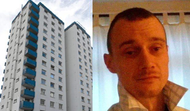 John McKenzie was found in a wardrobe in Lansdowne Court.