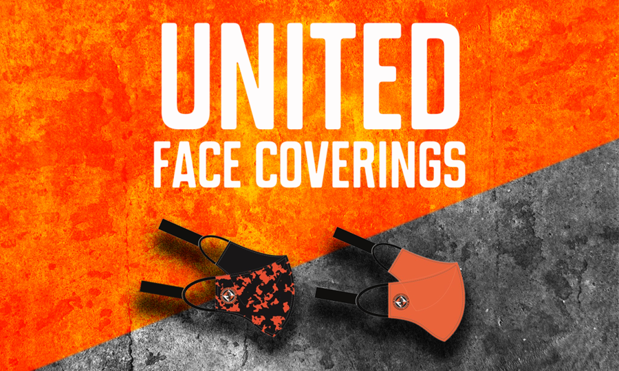 Dundee United's face masks.