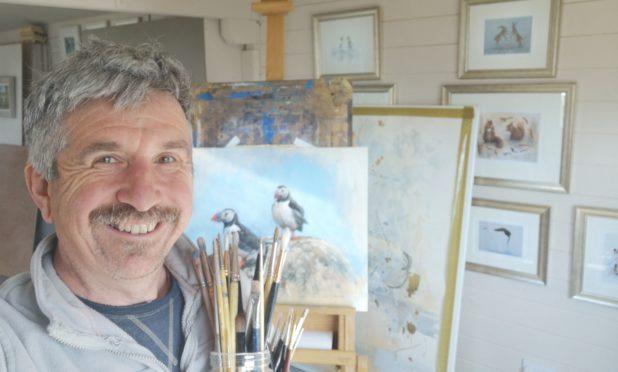 Artist Derek Robertson.