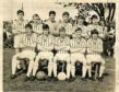 The Butterburn team which played Kirkstyle in the Under 18 Scottish Cup Final at Claypotts. Back Row (L-R): Keir, Smith, McAlpine, Bruce, Brown, O'Rourke Front row: Moir, Duncan, Ferguson, Goodall, McGowan  SP 28/05/1966  T&P 2/3/01  Dundee Butterburn FC 1966-05-00