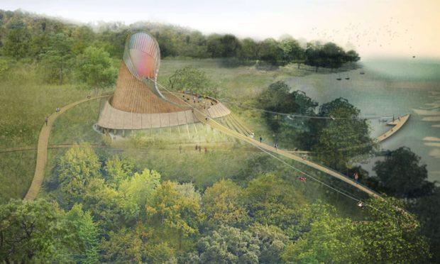 An artist impression of Eden Project Foyle in Northern Ireland.