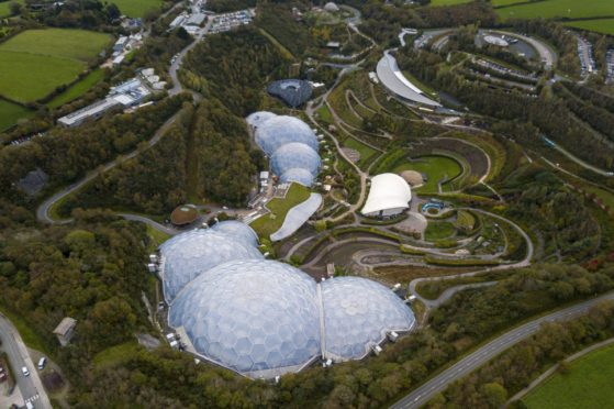 The Eden Project is eyeing up Dundee as the site of its next major attraction. Pictured is its hugely successful Cornwall centre.