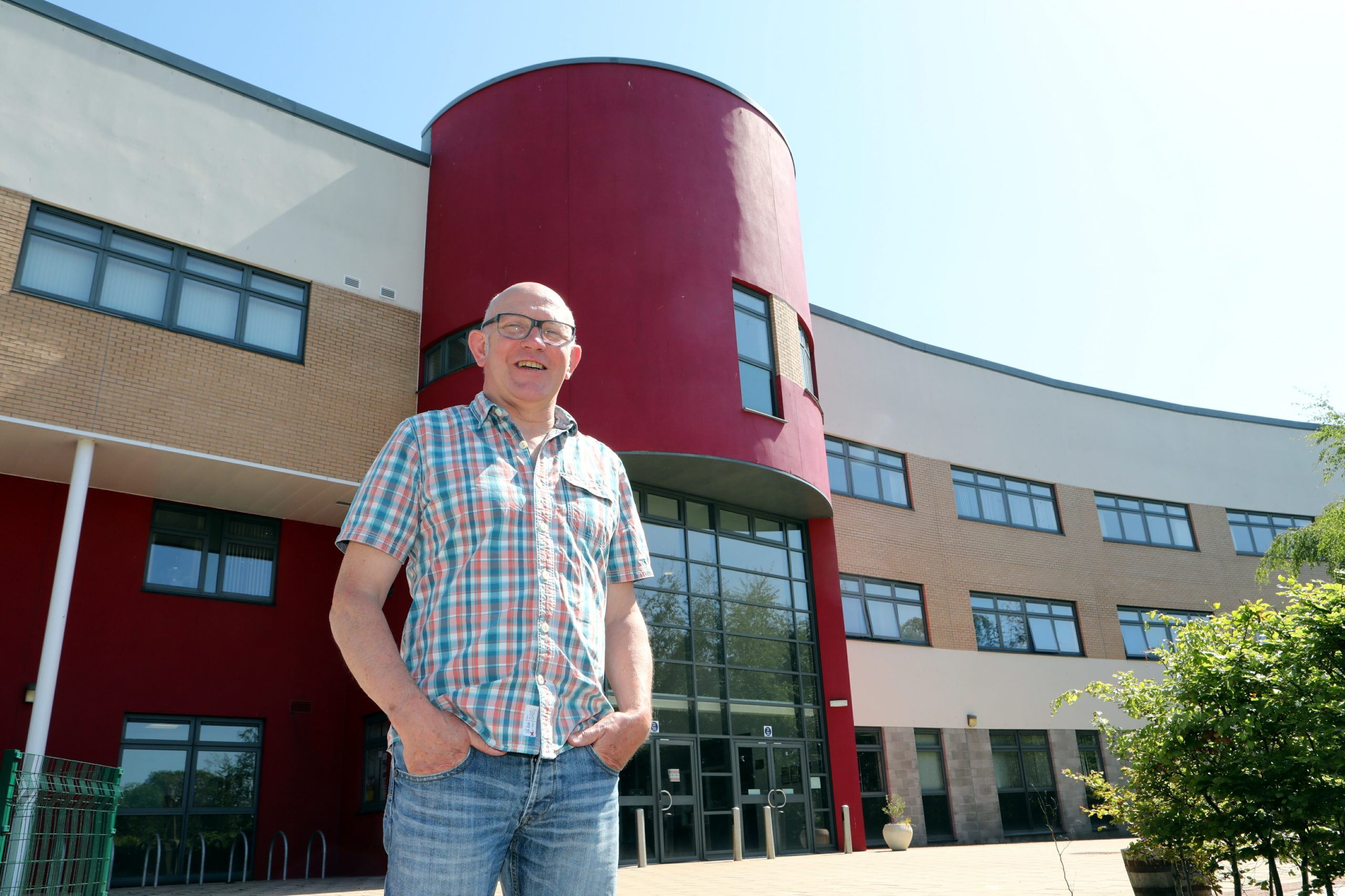 Grove Academy rector Graham Hutton is preparing for the school to re-open in August.