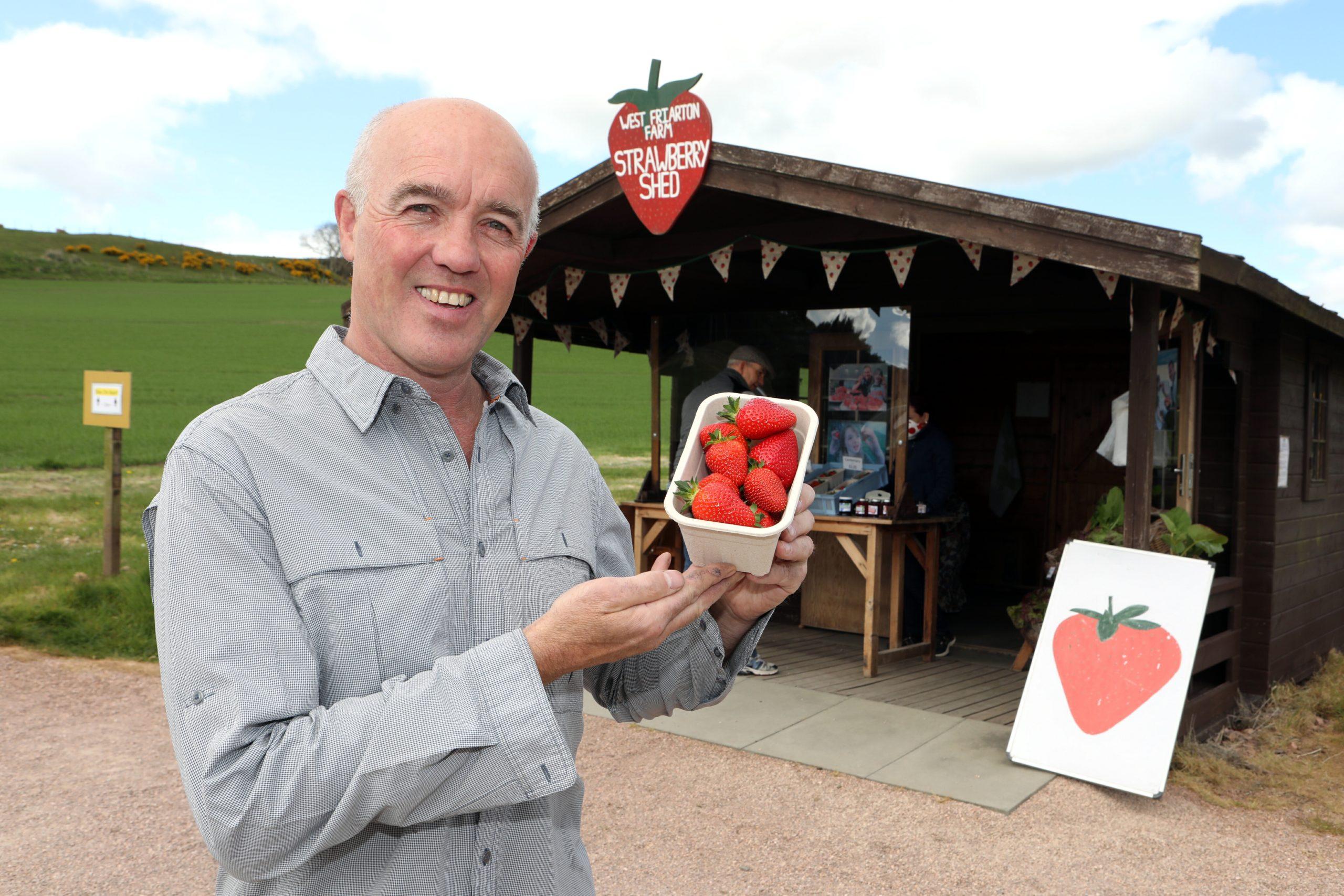 Keith Adamson of West Friarton Farm.