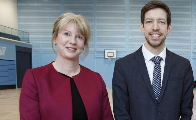 Council leader John Alexander with Dundee City East MSP, Shona Robison. (Library image)