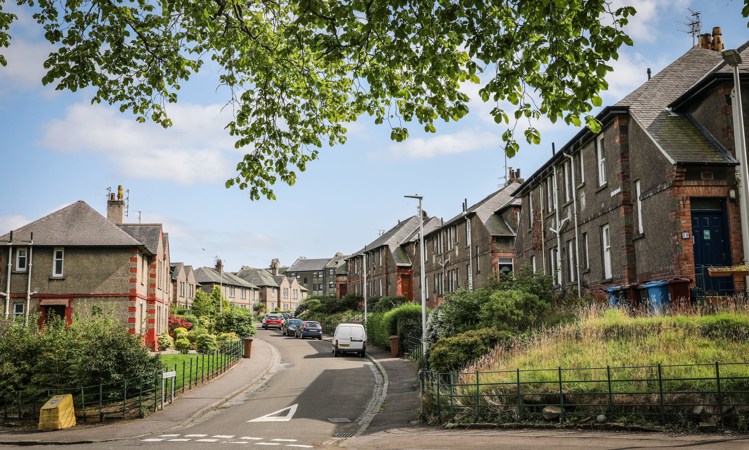 The Logie Avenue housing estate was opened in 1920 and was the first government housing scheme in Scotland.