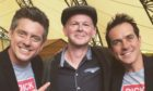 Cornwall Live reporter Lee Trewhela with comedy duo Dick and Dom at the Eden Project in Cornwall.